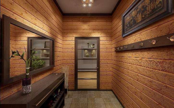 Имитация деревянной поверхности подойдет даже для маленькой комнаты: с ней такая комната будет смотреться по-настоящему уютной