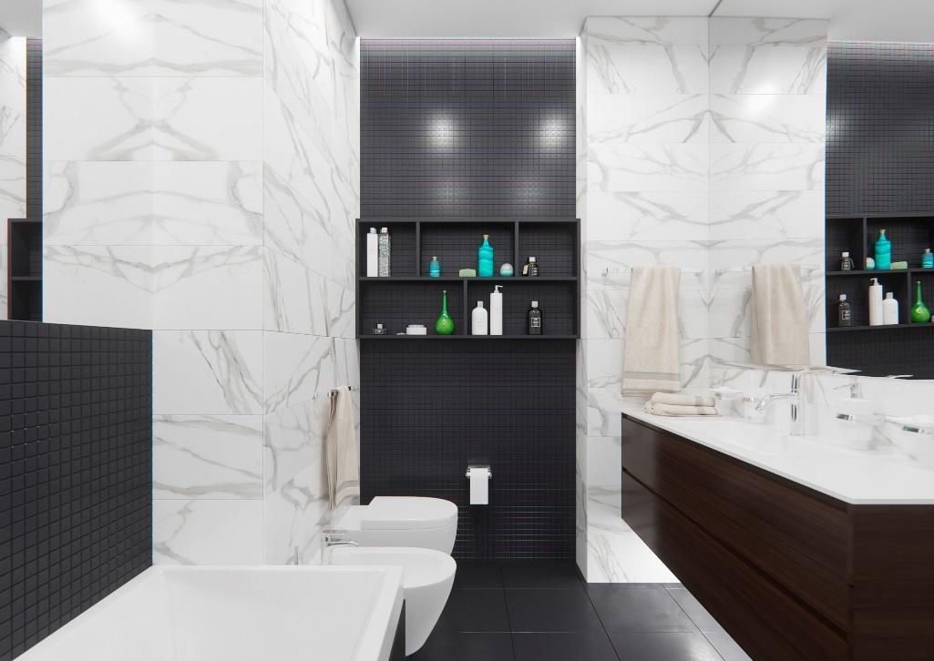 Если вы решили самостоятельно обустроить ванную комнату, тогда лучше ее оформлять в современном стиле