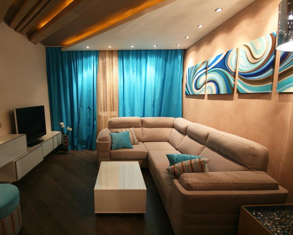 Красивый угловой диван прекрасно впишется в интерьер небольшой гостиной
