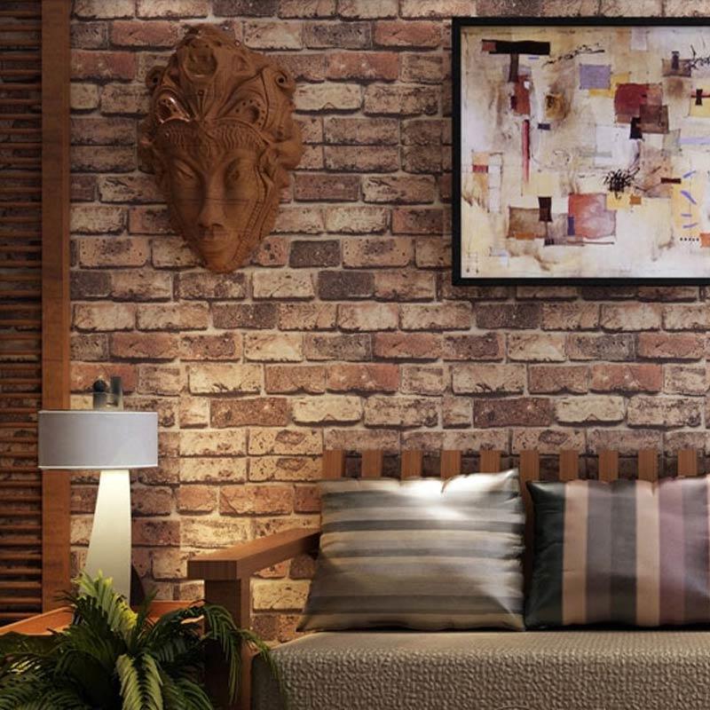 Обои под красный кирпич помогут в создании стильного и современного интерьера