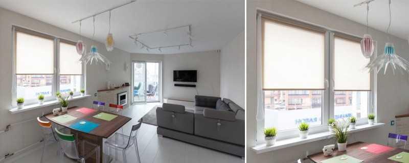 Скандинавские шторы не способны полностью затенять комнату: в любом случае, она будет освещена