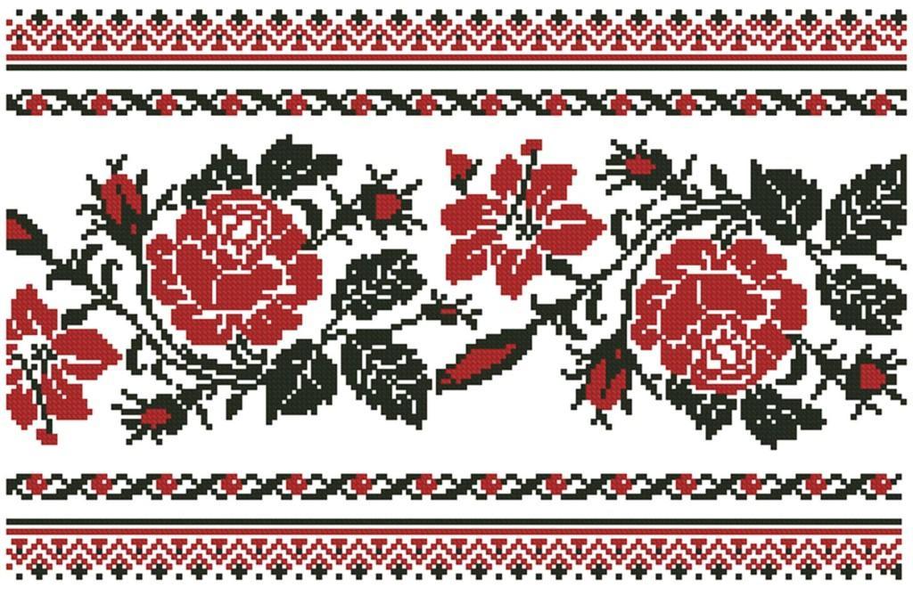 На свадебных рушниках вышивают разнообразные узоры и символы