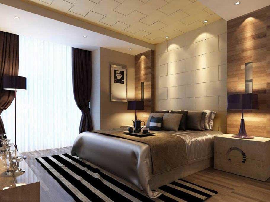 Многие предпочитают выбирать именно коричневый цвет для спальни, поскольку его достаточно легко можно сочетать с другими оттенками
