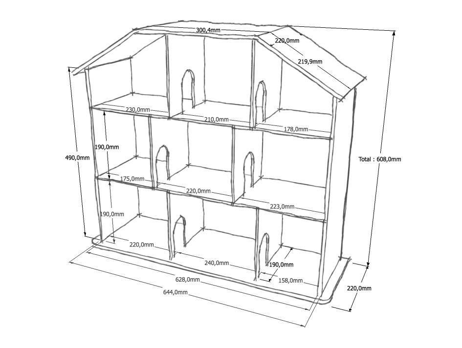 Перед тем как приступать к изготовлению домика, следует сперва грамотно составить его чертеж