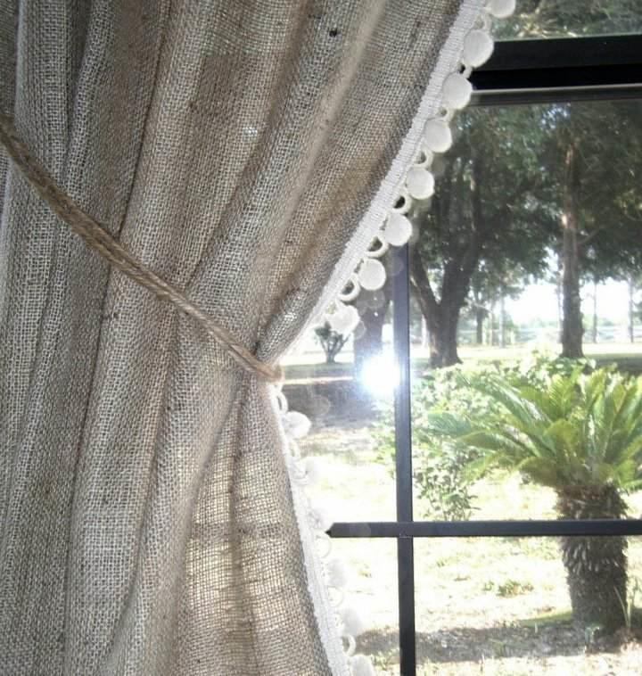 Льняные шторы в интерьере
