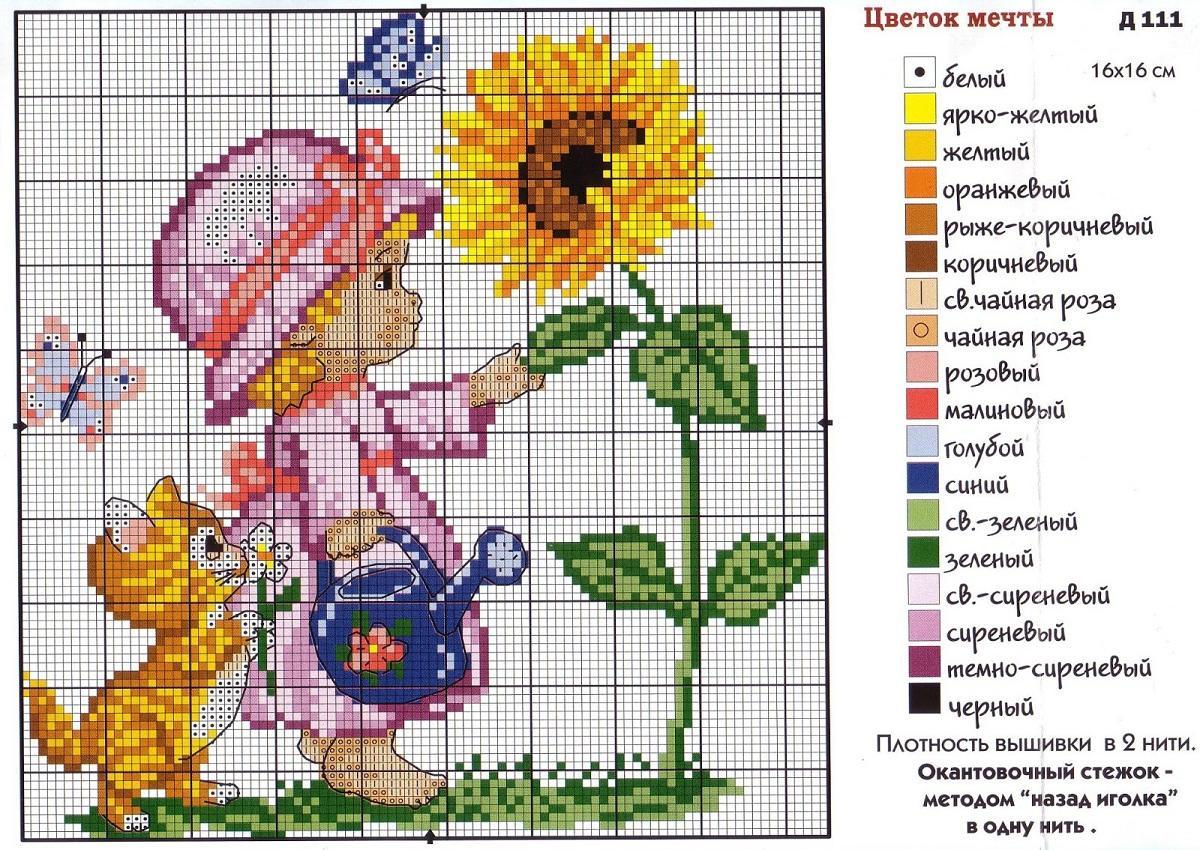 При вышивании композиции следует обращать внимание на подсказки и советы, указанные на схеме