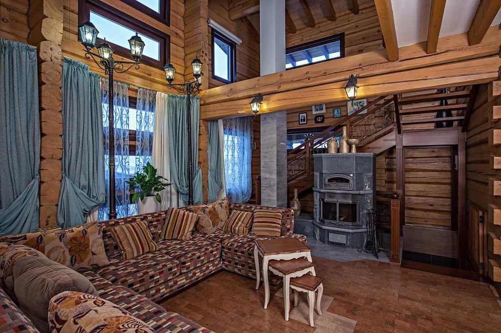 Шторы для деревянного дома фото