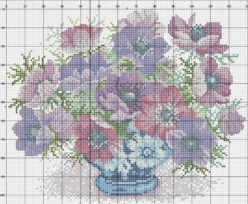 Схема облегчает и намного упрощает процесс вышивания больших картин