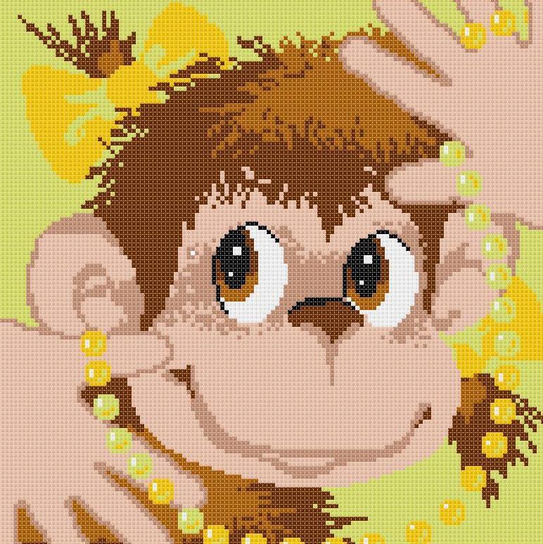 Красивая картина с веселой обезьянкой прекрасно подойдет неординарным и общительным личностям