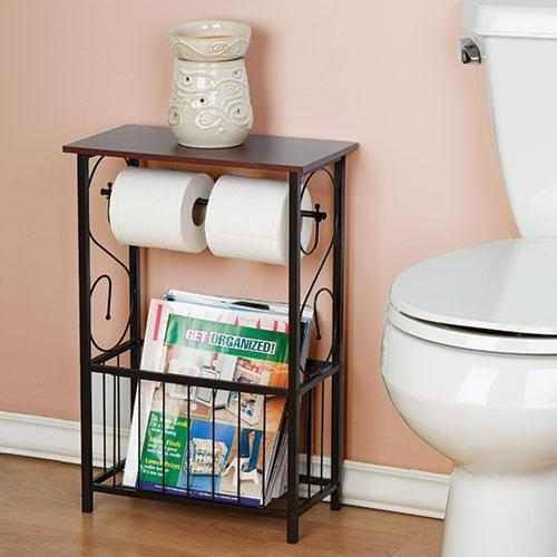 Даже для таких уединенных мест, как ванная или туалет, придумана специальная стойка—держатель для газет и журналов