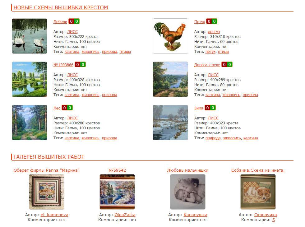Бесплатные схемы для вышивки можно найти на специализированных сайтах в интернете