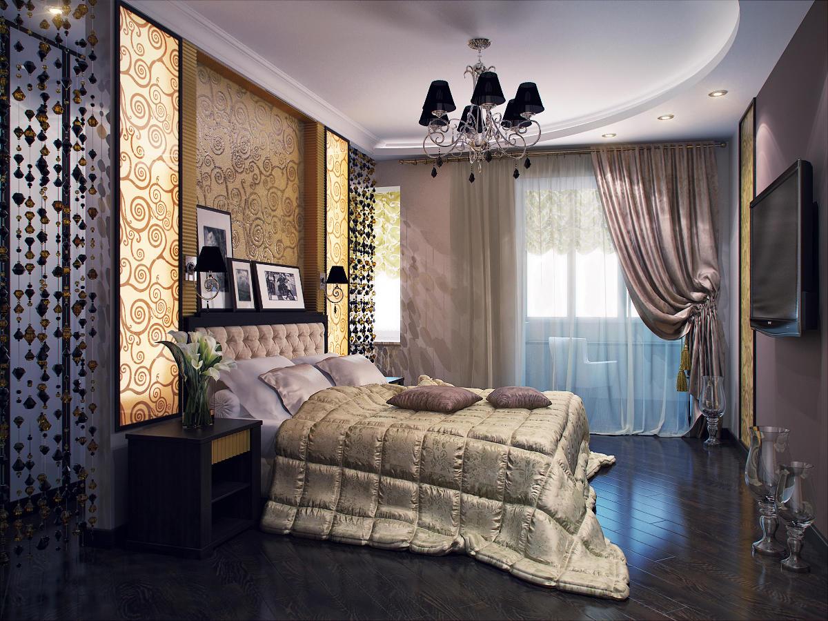 Чтобы создать шикарную спальню своими руками, прежде всего необходимо подобрать роскошную кровать, осветительные приборы и элементы декора