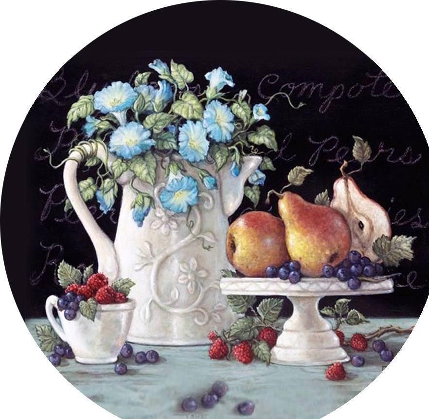 Наиболее популярными картинками, которые используются для декупажа, являются изображения с цветами и фруктами