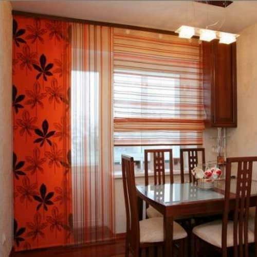 Для пошива штор в японском стиле используются геометрически несложные выкройки