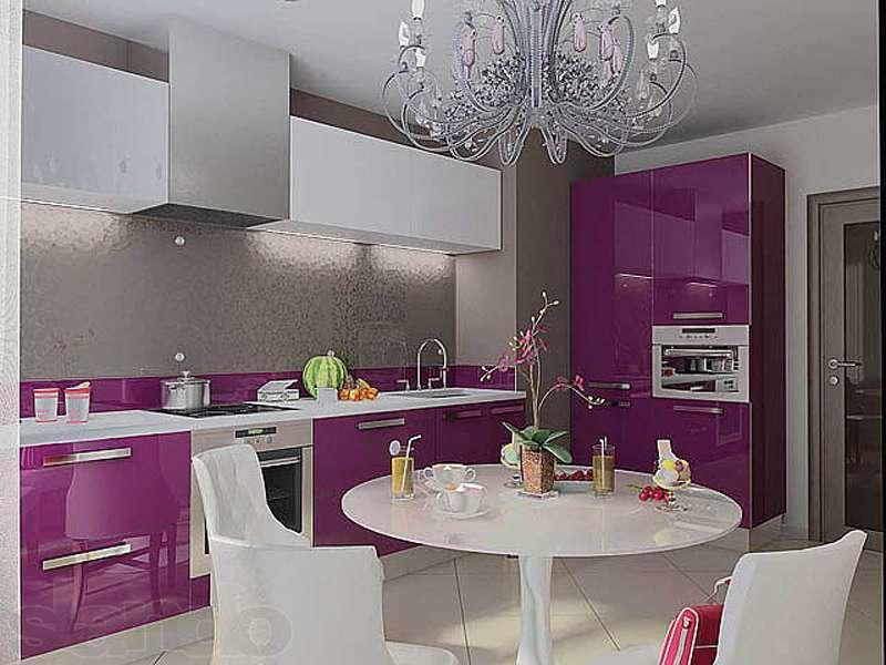 Можно использовать обеденный стол, как центральный элемент кухни