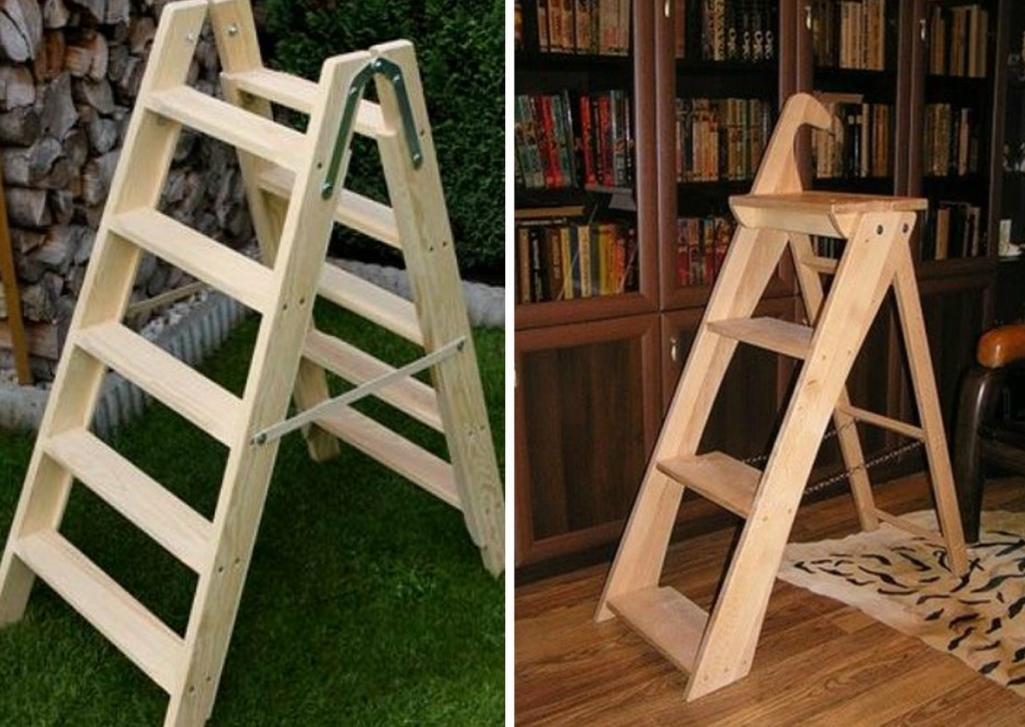 Многие специалисты рекомендуют для изготовления лестницы-стремянки выбирать сосну