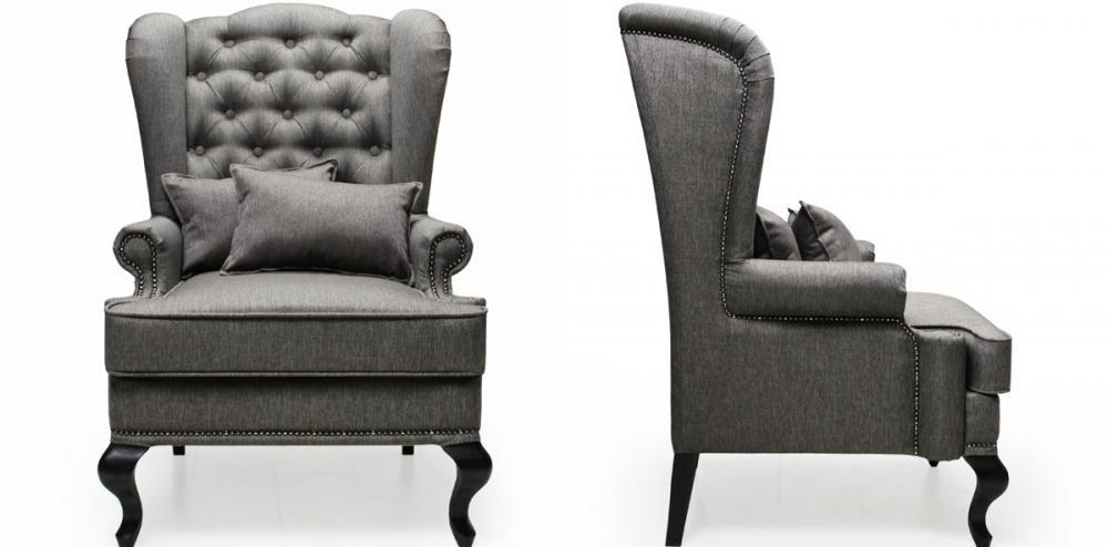 Каминное кресло с ушами в английском стиле - незаменимый атрибут в уютном доме