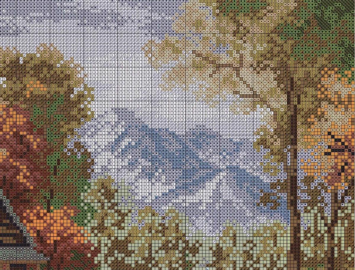 Чтобы самостоятельно создать схему пейзажа, необходимо найти картинку и воспользоваться программой на компьютере