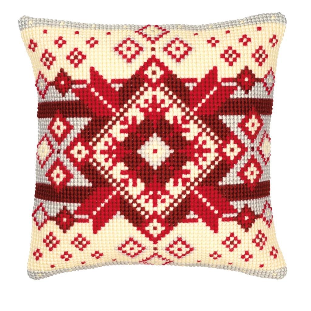 Орнамент - самый простой вариант схемы вышивки подушки
