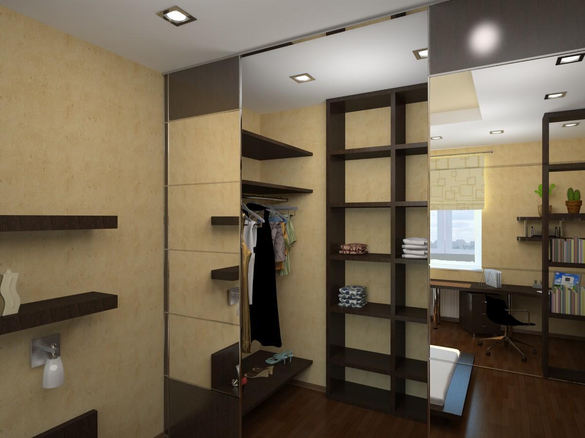 В отличие от шкафа в гардеробной можно переставить полки местами или добавить новые