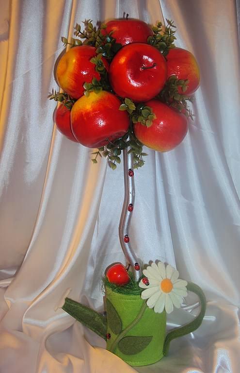 Топиарий в виде фруктового натюрморта отлично украсит кухню или столовую