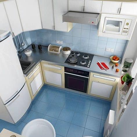 Установка холодильника при входе в кухню 6 кв м сокращает ее полезное пространство