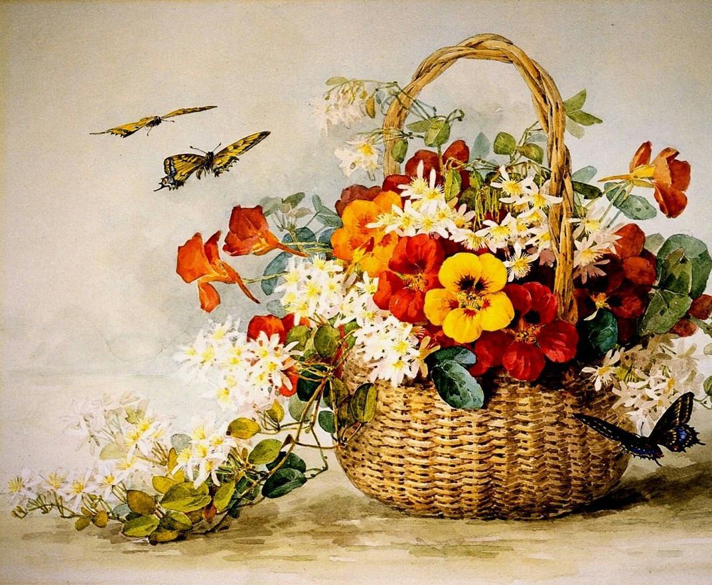 Цветы на картинке для декупажа должны гармонично сочетаться по цвету и форме друг с другом