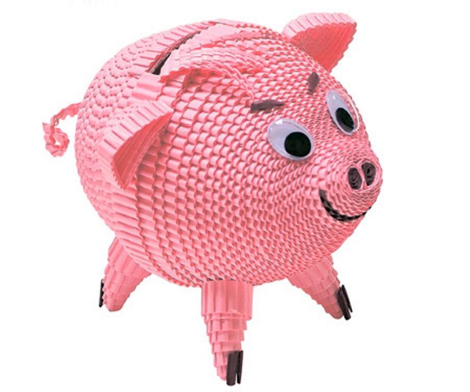Если вы впервые решили использовать гофрированный картон при работе, тогда лучше начинать с самой простой поделки — свинки