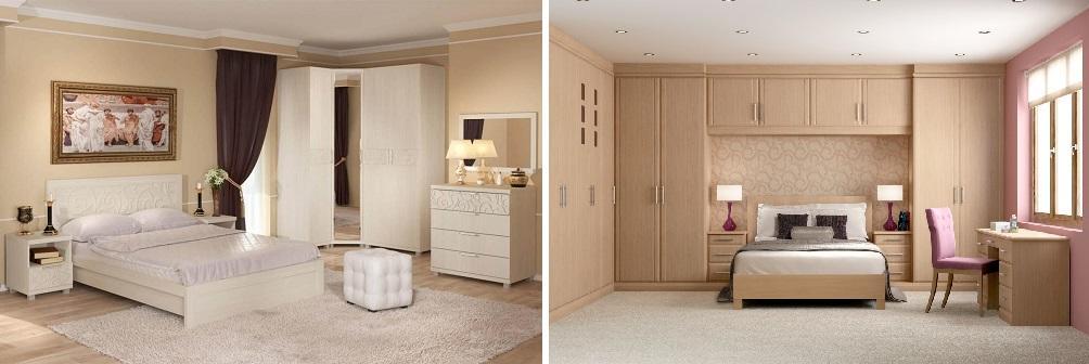 Встроенная мебель для спальни: фото маленькой комнаты, заказ с кроватью, под окно своими руками