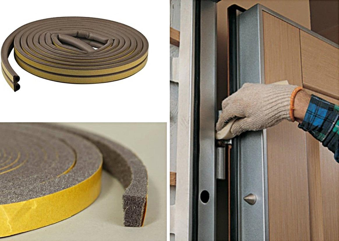Для шумоизоляции дверей рекомендуется приобрести специальные резинки, которые наклеиваются по периметру дверей