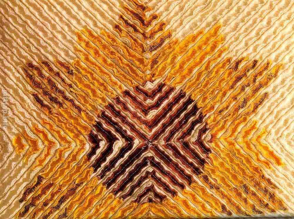Синель – это имитация мелкого набора лоскутков из полосок ткани