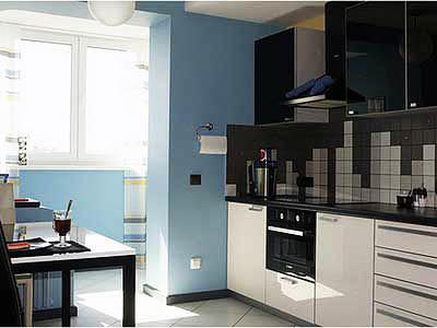 Объединить маленькую кухню с балконом - значит увеличить ее полезную площадь и сделать интерьер рациональным