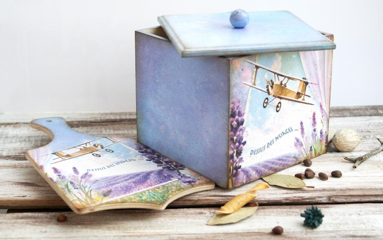 Декупаж в стиле прованс отличается нежной пастельной гаммой а также природной тематикой узоров
