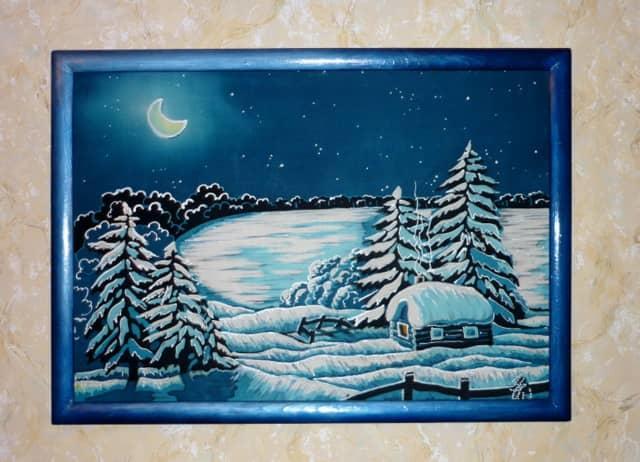 Панно зимняя сказка своими руками: на тему, стену, лес, фото, мастер-класс канзаши, картина из ватных дисков, квиллинг, как сделать, видео