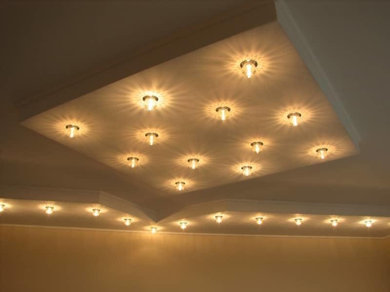 Встраиваемые светильники для потолка из гипсокартона