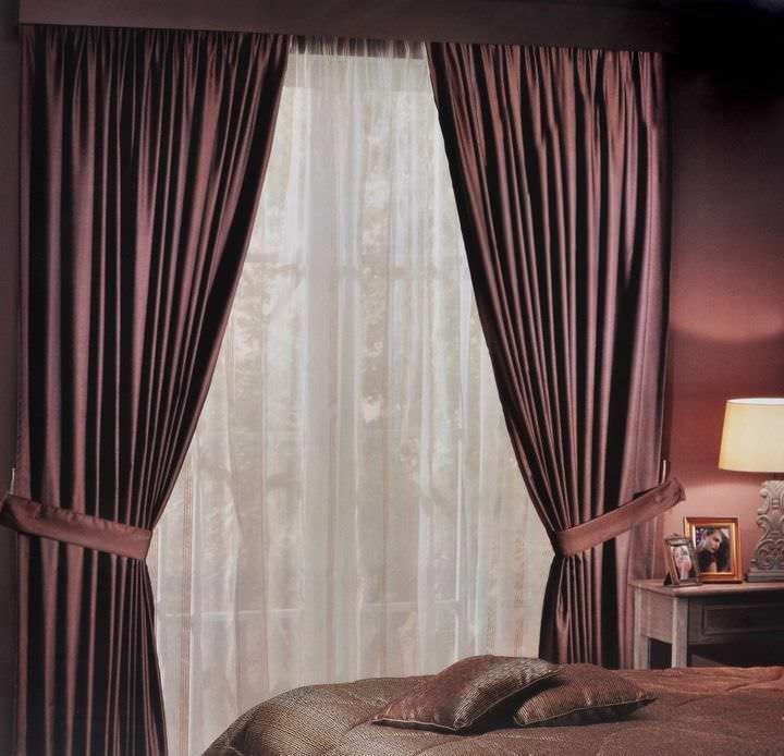 Римские шторы с тюлью
