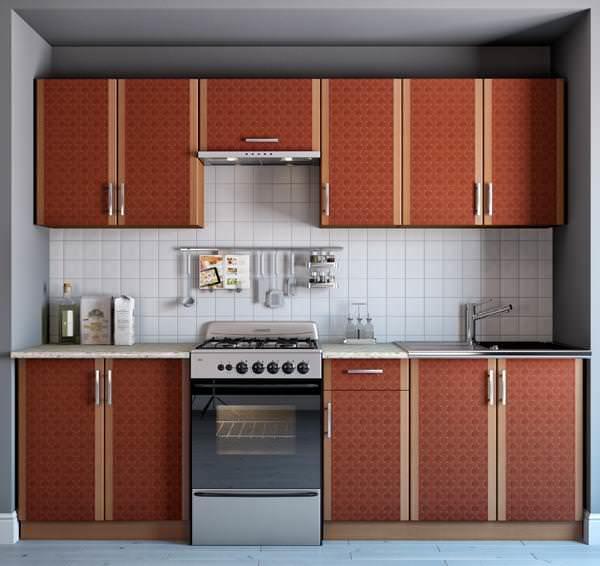 Простота и минимализм – основные характеристики кухонных гарнитуров эконом класса