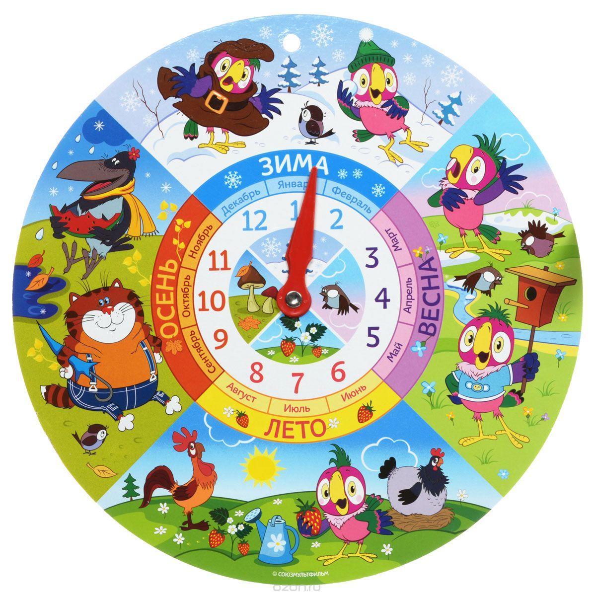 Используя картон и краски, можно смастерить обучающие часы для деток