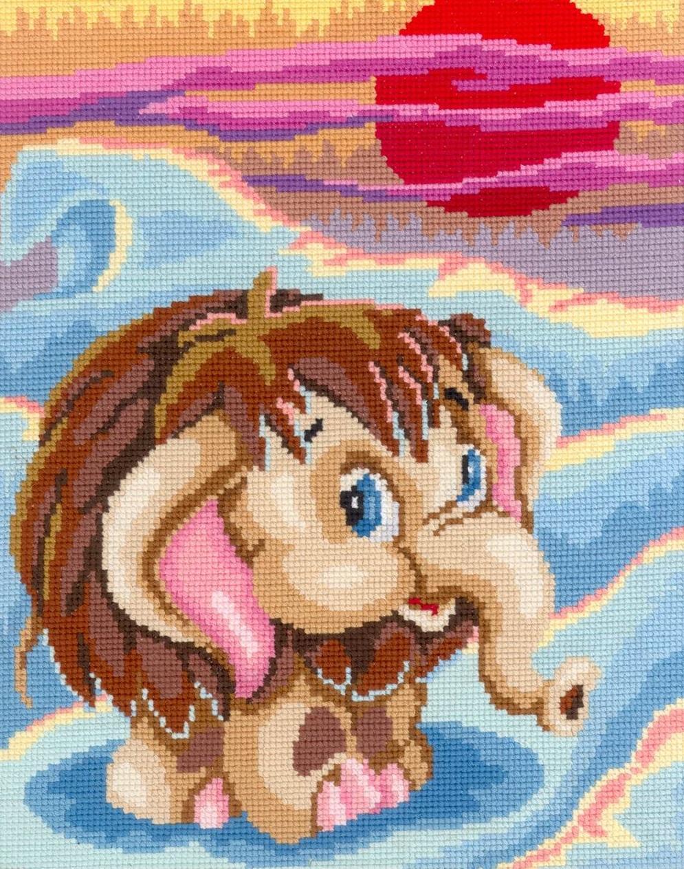 Вышитый крестиком персонаж из любимого мультфильма очень обрадует вашего малыша