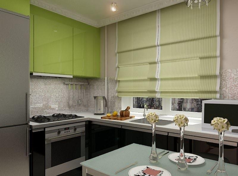 В интерьере маленькой кухни стоит использовать варочную панель и встроенный духовой шкаф вместо громоздкой плиты