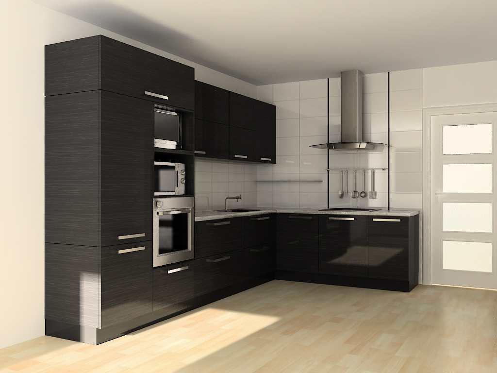 Если у вас прямоугольная кухня, то лучшим решением будет поклейка светлых обоев
