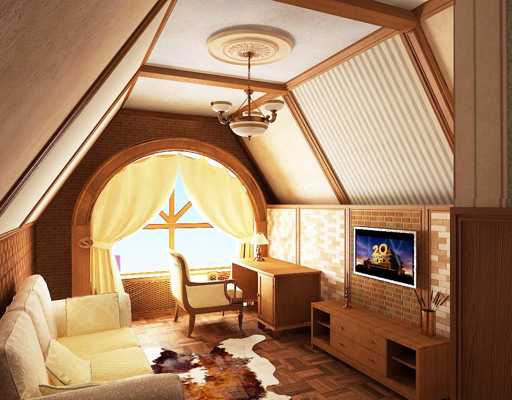Для отделки потолка мансарды лучше подбирать качественные и экологичные материалы