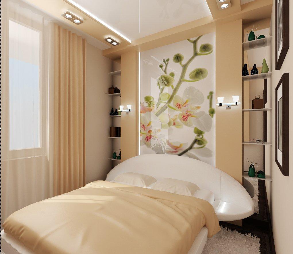 Маленькую узкую спальню можно с легкостью скорректировать при помощи зонирования и грамотно подобранного стиля