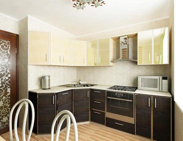 Для кухни площадью 9 кв. м угловая планировка будет одним из лучших вариантов - это не только рационально, но и удобно в условиях небольшого пространства