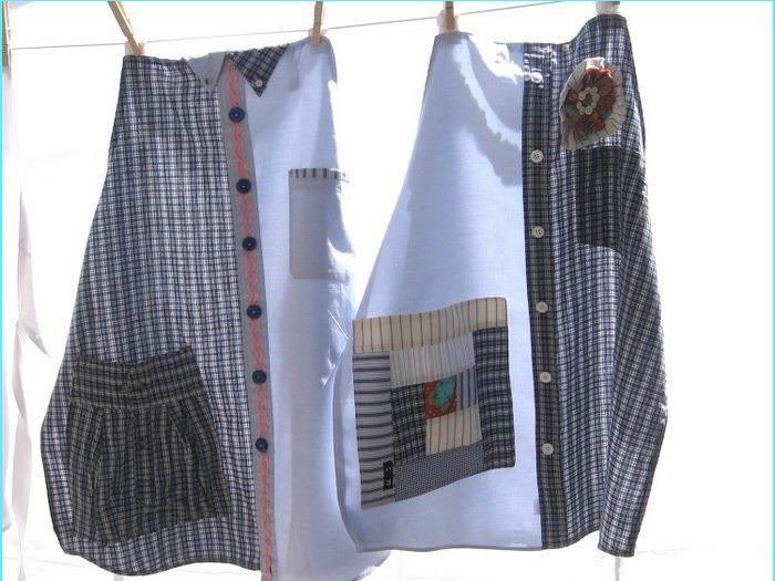 Из двух сочетаемых по стилю мужских рубашек можно создать индивидуальный стильный аксессуар