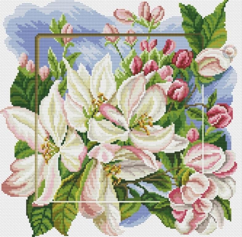 Красивая композиция из цветов прекрасно украсит спальную комнату или гостиную