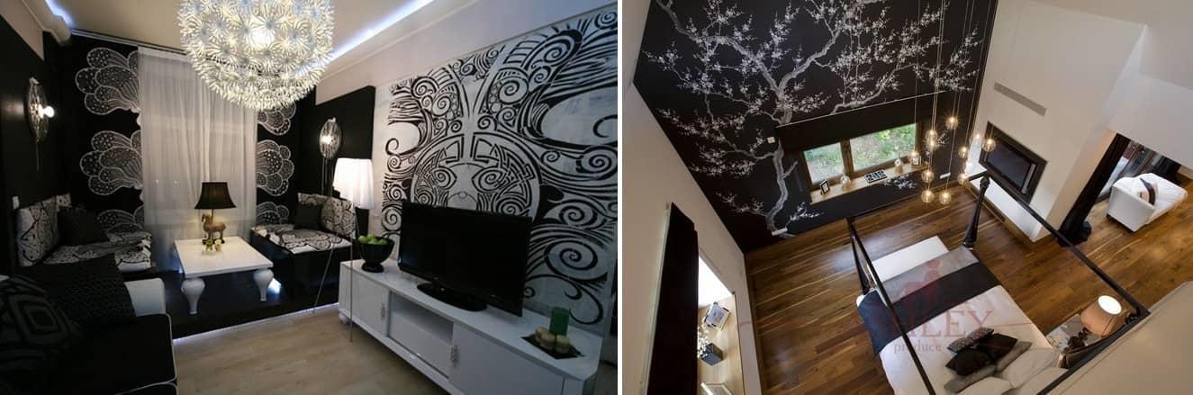 Ведущие дизайнеры рекомендуют сочетать стены с цветочными обоями полотнами с однотонной гаммой, чтобы все смотрелось лаконично