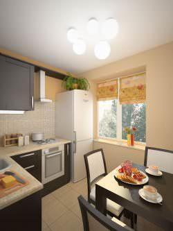 Даже самую небольшую кухню можно сделать стильной и современной