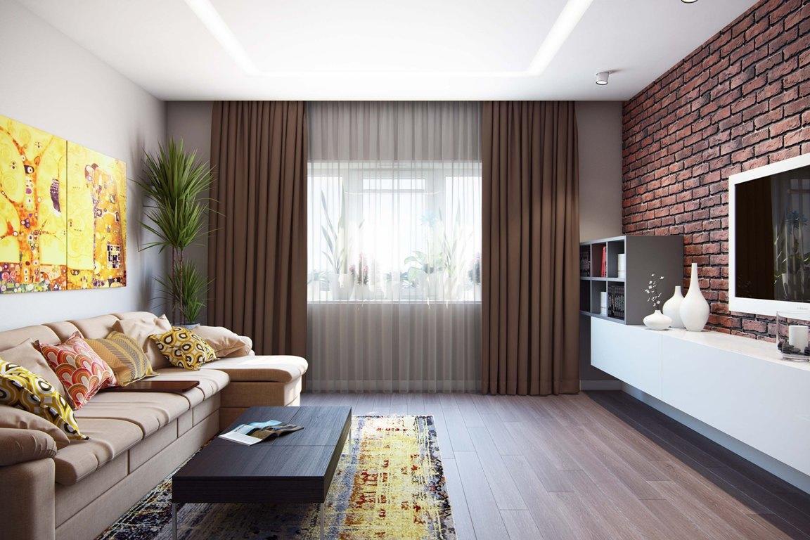 Гостиную средних размеров не стоит обставлять крупной мебелью