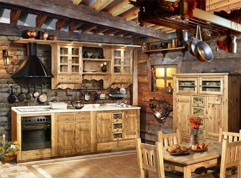 Желательно оформлять все помещение кухни в едином стиле